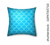 pillow mockup icon isolated on... | Shutterstock .eps vector #1694765710