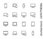 modern thin line icons set of... | Shutterstock .eps vector #1694798086