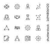 modern thin line icons set of... | Shutterstock .eps vector #1694806420