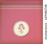 beautiful vintage greeting card ... | Shutterstock .eps vector #169480748