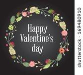 happy valentine's day hand...   Shutterstock .eps vector #169480910