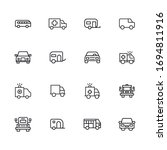 big set of vehicles line icons. ... | Shutterstock .eps vector #1694811916