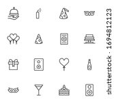 premium set of party line icons.... | Shutterstock .eps vector #1694812123