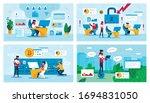 online business  hacker attack... | Shutterstock .eps vector #1694831050