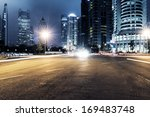 the light trails on the modern... | Shutterstock . vector #169483748