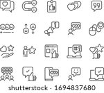 set of feedback icons  research ... | Shutterstock .eps vector #1694837680