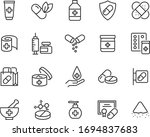 set of medicine icons  pharmacy ... | Shutterstock .eps vector #1694837683