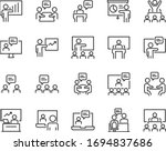 set of training icons ... | Shutterstock .eps vector #1694837686