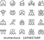 set of business icons  teamwork ... | Shutterstock .eps vector #1694837689