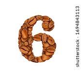 coffee bean font. alphabet... | Shutterstock . vector #1694843113