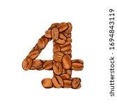 coffee bean font. alphabet... | Shutterstock . vector #1694843119