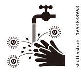 illustration of hand washing ... | Shutterstock .eps vector #1694848963