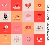 happy valentines day cards.... | Shutterstock .eps vector #169485104