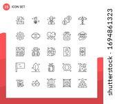 25 Universal Line Signs Symbol...