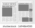 newspaper pages template. news... | Shutterstock .eps vector #1694864500