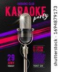 karaoke poster template with... | Shutterstock .eps vector #1694879173