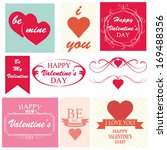 happy valentines day cards with ... | Shutterstock .eps vector #169488356