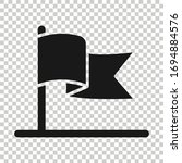 flag icon in flat style. pin...