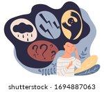 feelings vector illustration.... | Shutterstock .eps vector #1694887063