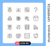 set of 16 modern ui icons... | Shutterstock .eps vector #1694898526