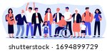 diverse community members... | Shutterstock .eps vector #1694899729