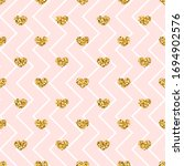 Gold Heart Seamless Pattern....