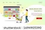 web page design template for...   Shutterstock .eps vector #1694905390