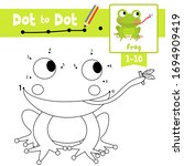 dot to dot educational game and ... | Shutterstock .eps vector #1694909419