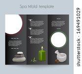 beauty spa   salon tri fold... | Shutterstock .eps vector #169491029