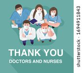 thank you doctors and nurses... | Shutterstock .eps vector #1694911843
