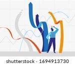 businessman standing near... | Shutterstock .eps vector #1694913730