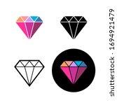 diamond fashion logo. colorful... | Shutterstock . vector #1694921479