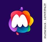 letter m logo at colorful...   Shutterstock .eps vector #1694939629