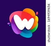 letter w logo at colorful...   Shutterstock .eps vector #1694939656