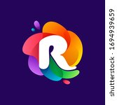 Letter R Logo At Colorful...
