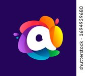 letter a logo at colorful...   Shutterstock .eps vector #1694939680