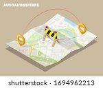 isometric lockdown route square ...   Shutterstock .eps vector #1694962213