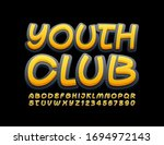 vector bright banner youth club.... | Shutterstock .eps vector #1694972143