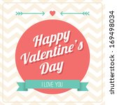happy valentine's day card  ... | Shutterstock .eps vector #169498034
