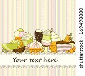background with sweets and with ... | Shutterstock .eps vector #169498880