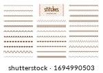 stitch set. fabric stitches... | Shutterstock .eps vector #1694990503