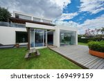 big modern house | Shutterstock . vector #169499159