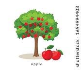 Apple Tree Vector Illustration...