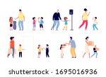 good manners. children help... | Shutterstock .eps vector #1695016936