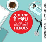 thank you to all healthcare... | Shutterstock .eps vector #1695031906