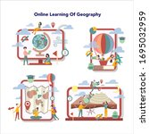 geography online education... | Shutterstock .eps vector #1695032959