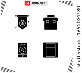 set of 4 modern ui icons...