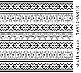black and white vector border...   Shutterstock .eps vector #1695046813