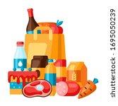 supermarket illustration of...   Shutterstock .eps vector #1695050239