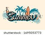 summer lettering print.... | Shutterstock .eps vector #1695053773